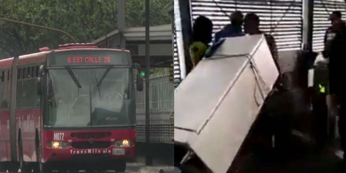 (Video) hombre sorprendió en TransMilenio al ingresar con una nevera al sistema de transporte