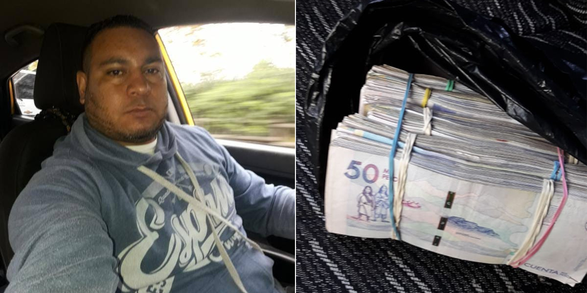 Taxista devuelve $ 40 millones que olvidaron en su vehículo en Medellín