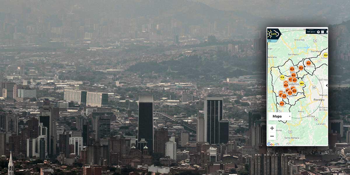 Medellín amanece de nuevo con alerta naranja por mala calidad del aire