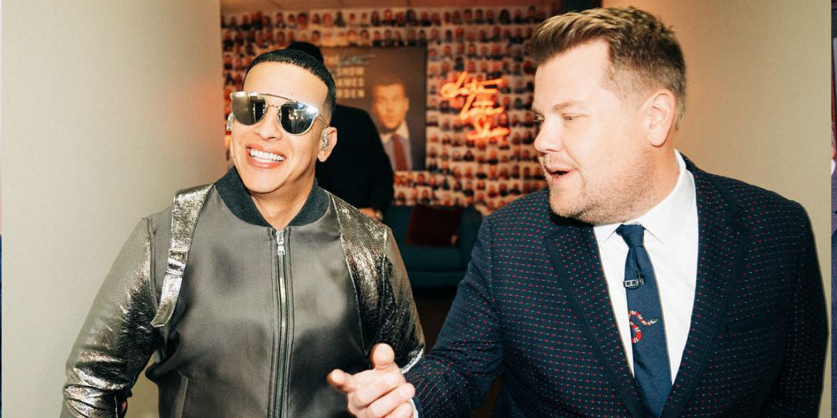 ¡La sacó del estadio! Daddy Yankee hizo historia en The Late Late Show con James Corden