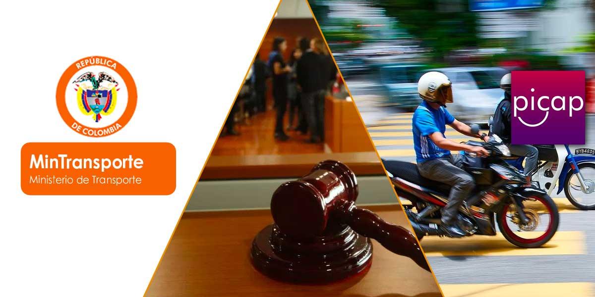 Mintransporte demanda a Picap por 'prestación ilegal de servicio público en vehículos de dos ruedas'