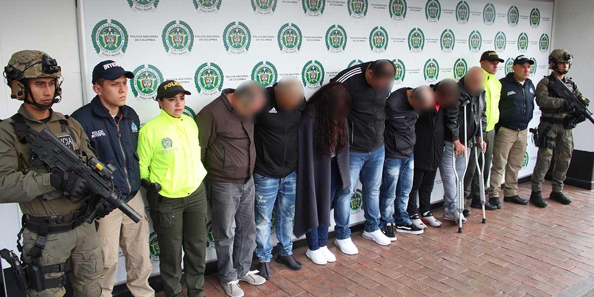 En operación trasnacional capturan a 18 extraditables en Colombia y España