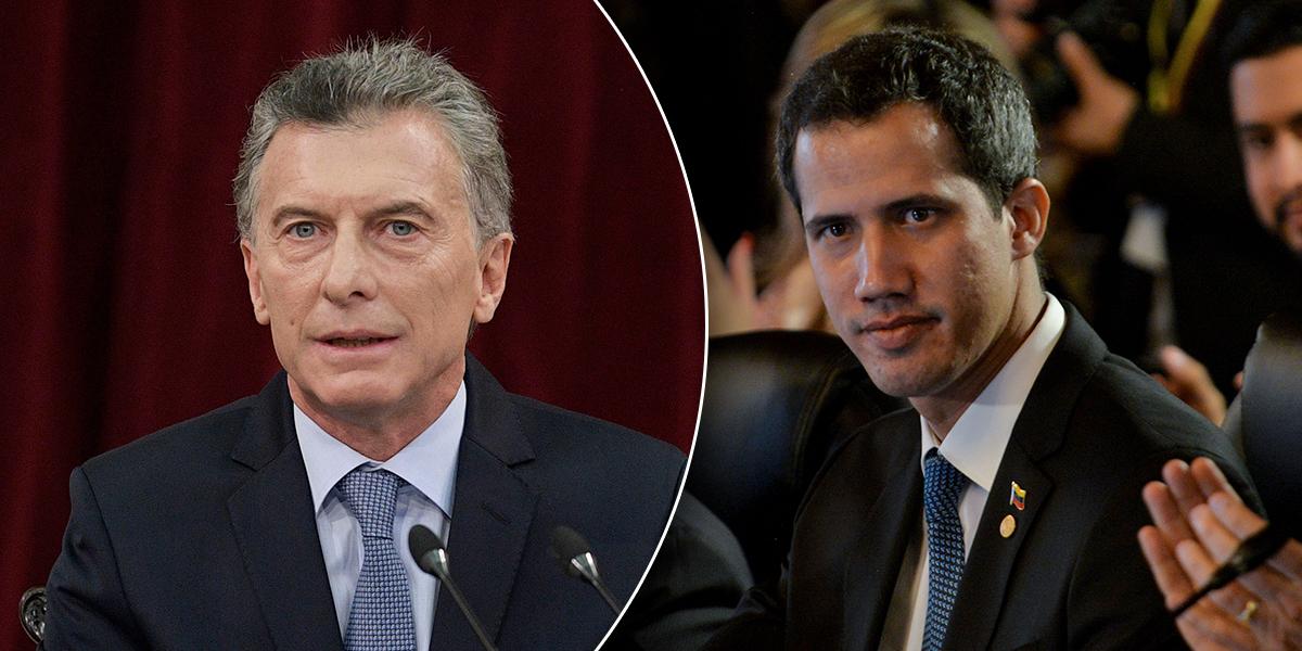 Presidente Macri recibirá esta tarde a Juan Guaidó en Buenos Aires