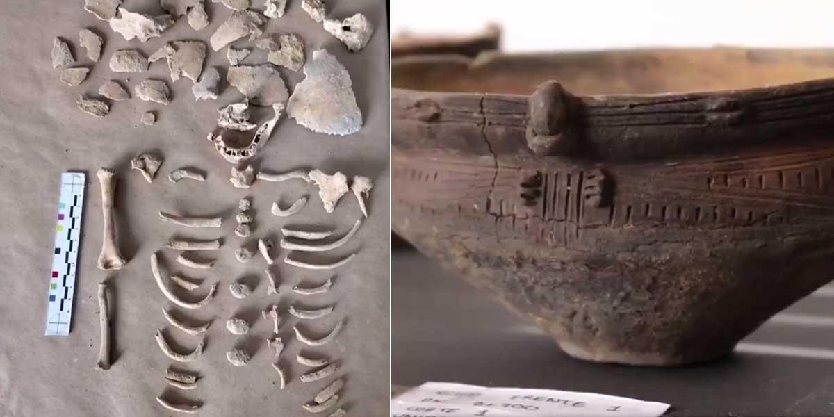 Hallan tesoro arqueológico que incluye nariguera de oro y 14 tumbas en Eje Cafetero