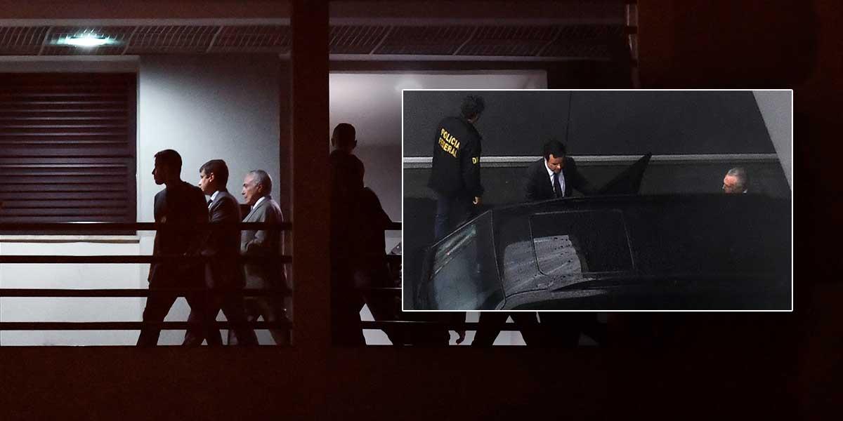 Temer pasa su primera noche en prisión y aguarda para ser interrogado