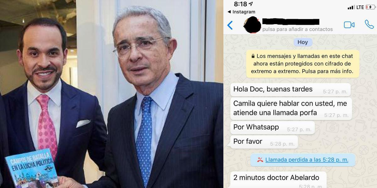 Abelardo De la Espriella reconoce su error al publicar chat de un periodista, quien fue amenazado