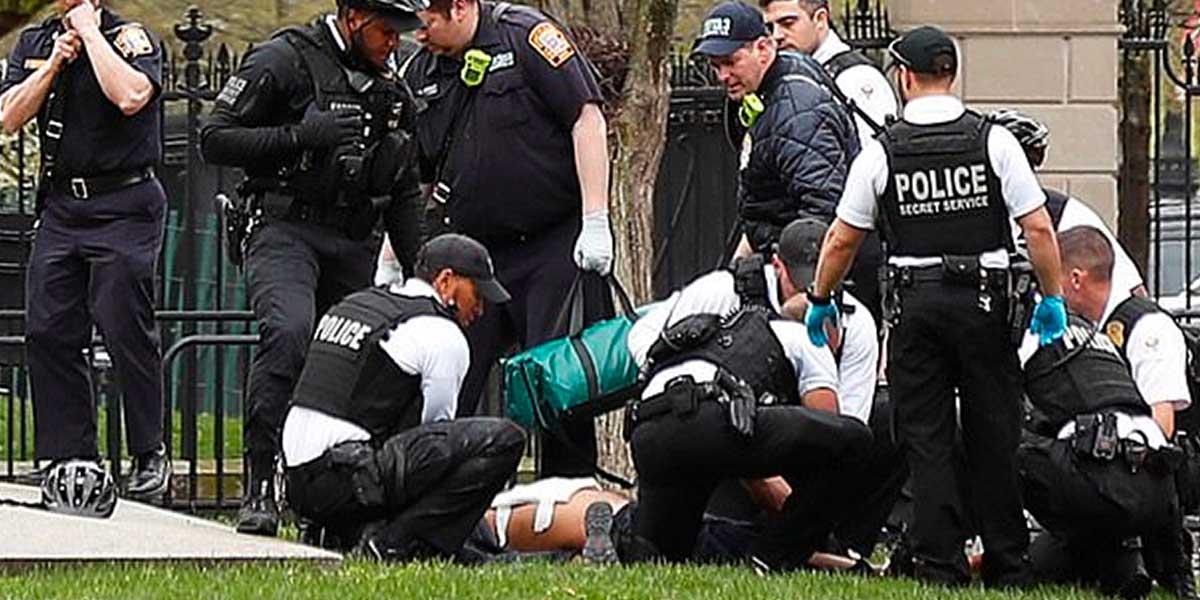 Un hombre intentó prenderse fuego frente a la Casa Blanca