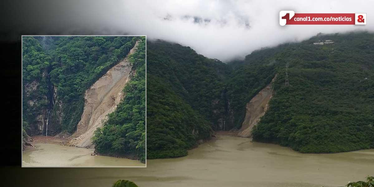 Deslizamiento aguas arriba de Hidroituango