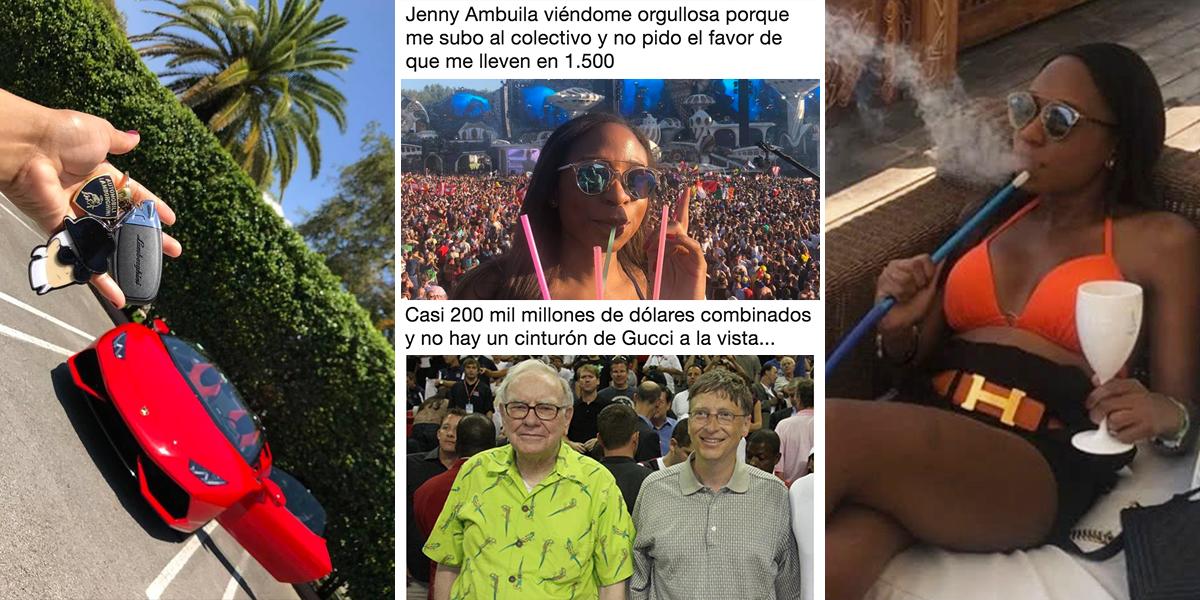 Los mejores memes: Internet no perdonó excentricidades y lujos de Jenny Ambuila