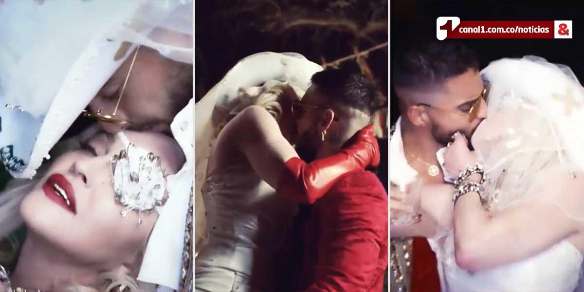 Un juego de seducción: así es el video de 'Medellín', canción de Madonna y Maluma