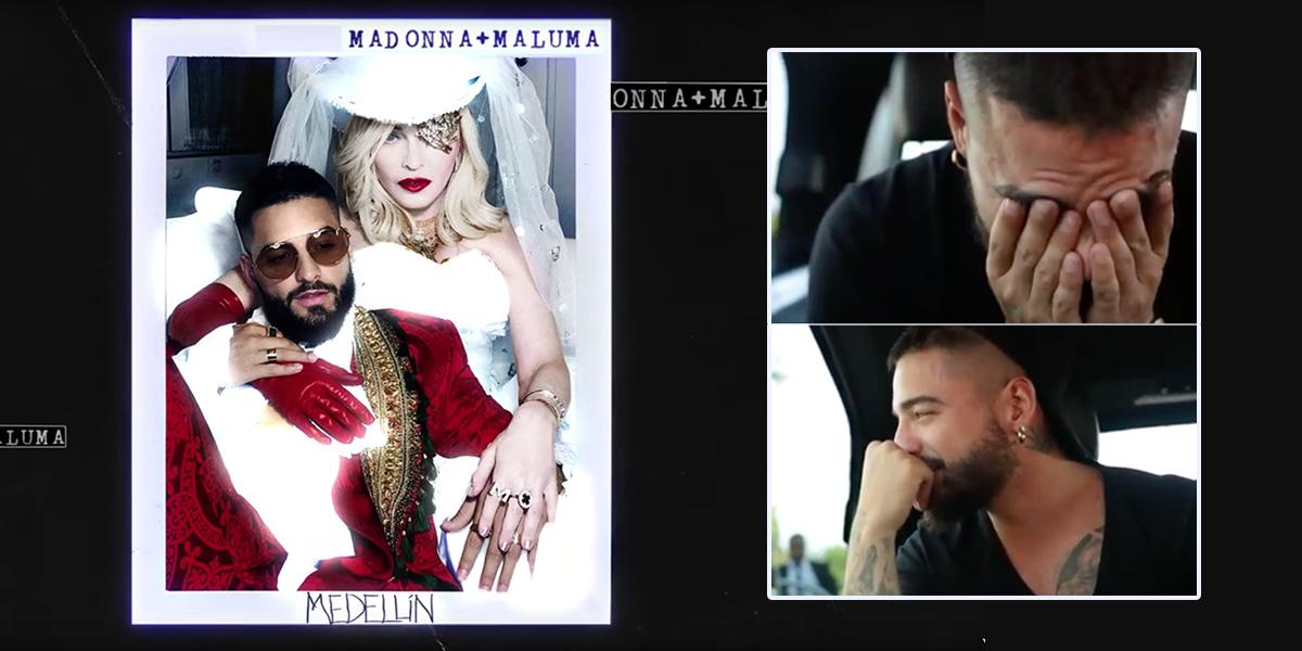Maluma llora al escuchar 'Medellín', su nueva colaboración con Madonna