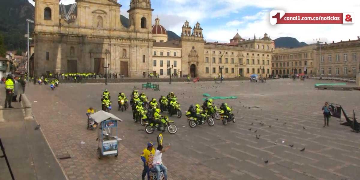 Se recupera el orden público en la Plaza de Bolívar tras disturbios de encapuchados