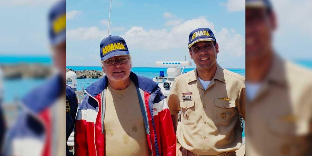 Armada Nacional rescata a ciudadano español en el mar Caribe
