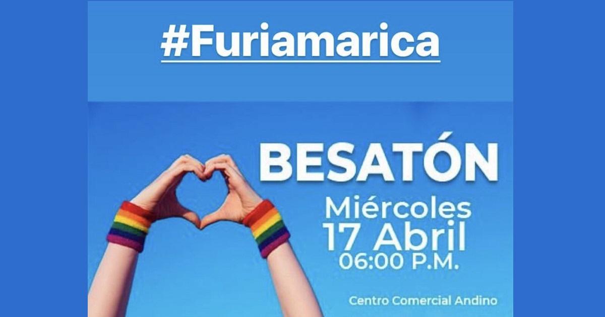 'Besatón' en Centro Andino contra la discriminación
