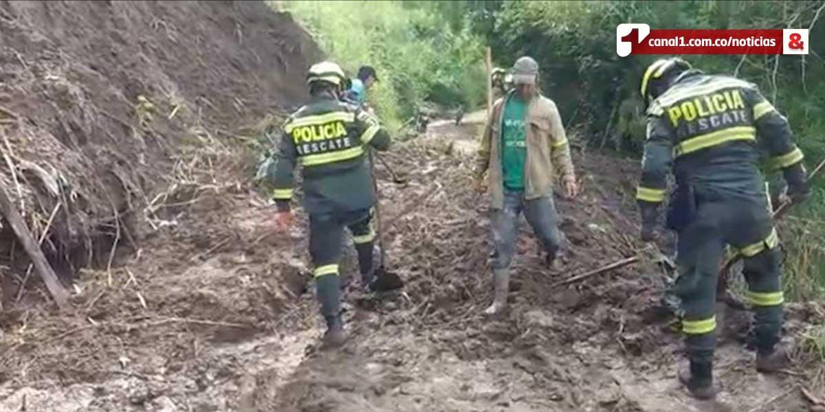 1400 estudiantes sin clase por derrumbes en zona rural de Bucaramanga