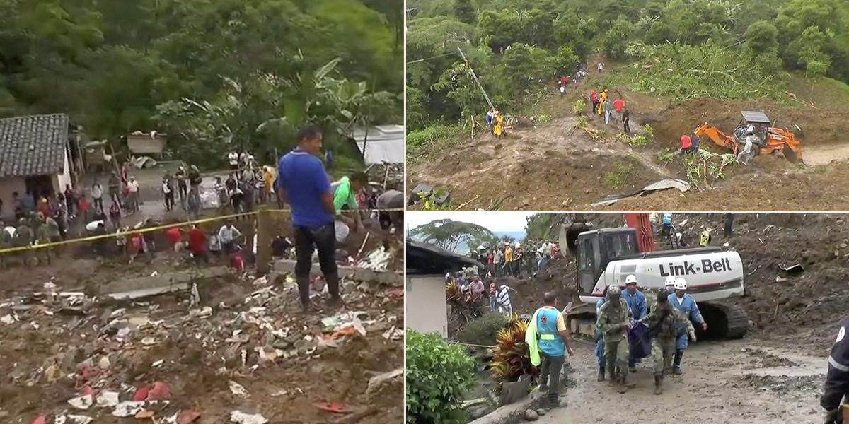 Continúan labores de rescate tras derrumbe que deja al menos 26 muertos en Rosas, Cauca