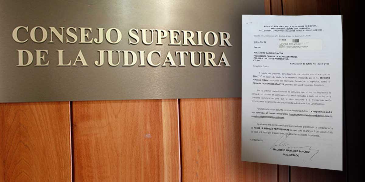 Admiten tutela para invalidar votación en Cámara de objeciones a ley estatutaria de la JEP