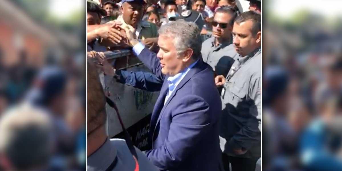 Presidente Duque llega a Caldono para cumplir cita con dirigentes indígenas