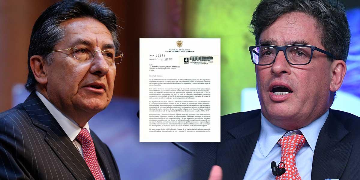 Fiscal pide a minhacienda devolver al Banco de la República el monopolio de compra de oro