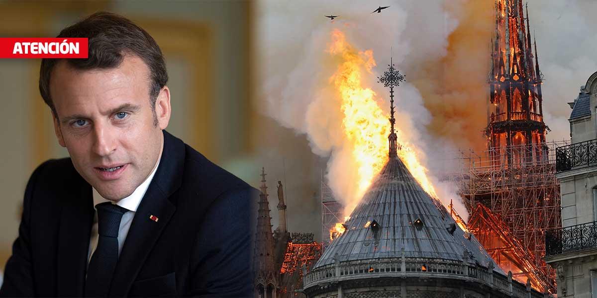 Macron comparte el 'dolor de toda una nación' por el incendio de Notre Dame