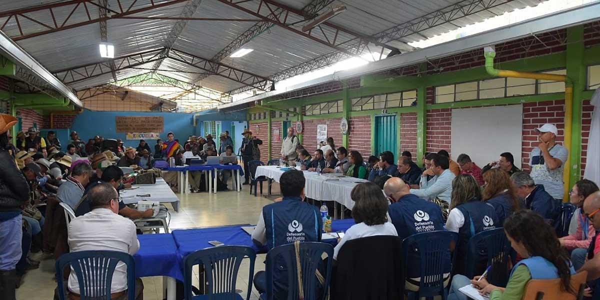 Indígenas definen si aceptan la propuesta económica del Gobierno en Cauca