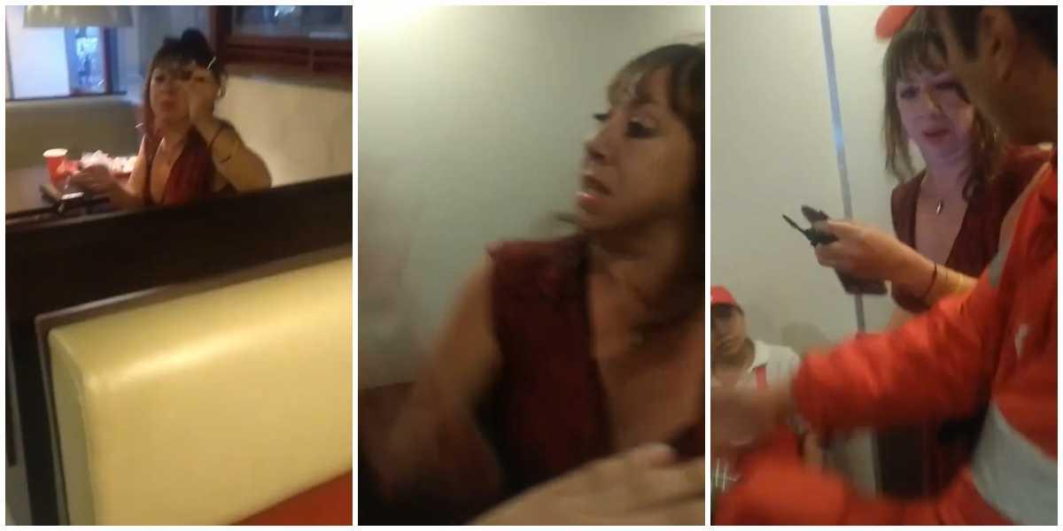 ¡A golpes! El video de una mujer atacando a una pareja gay en reconocido restaurante de Bogotá