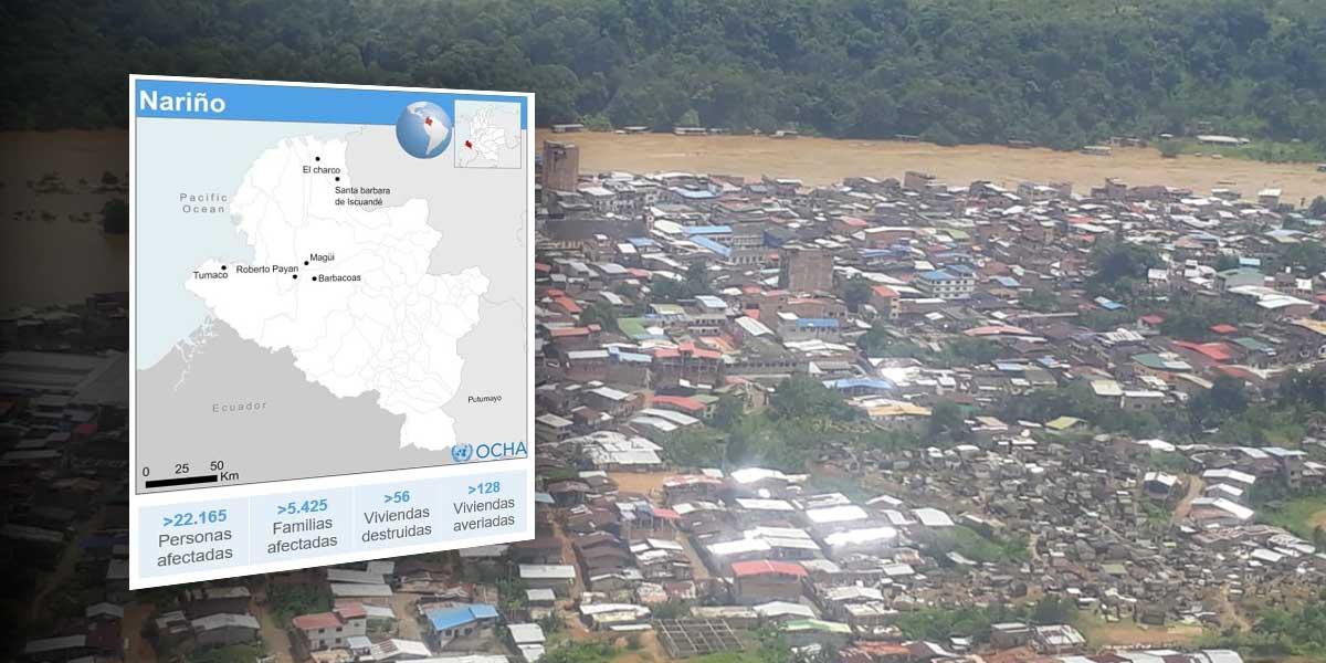 Lluvias han afectado a más de 22.000 personas en Nariño
