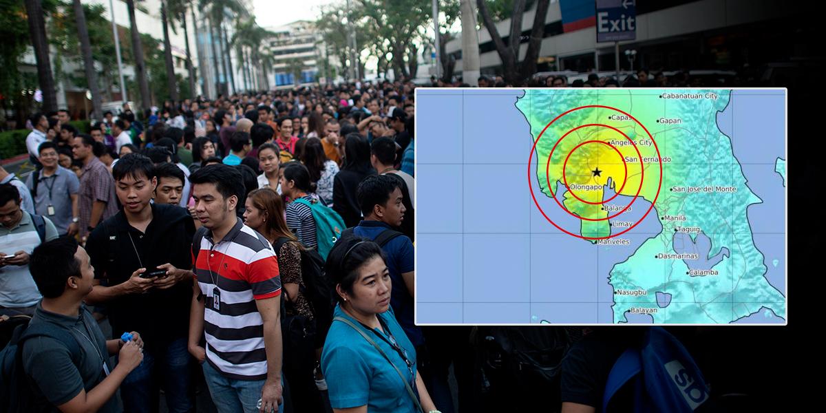Cinco muertos por derrumbe de dos edificios tras un terremoto en Filipinas