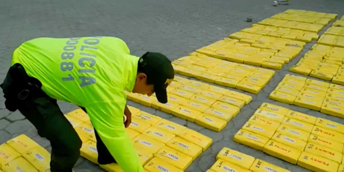 Policía incautó 1200 kilos de cocaína en Tumaco