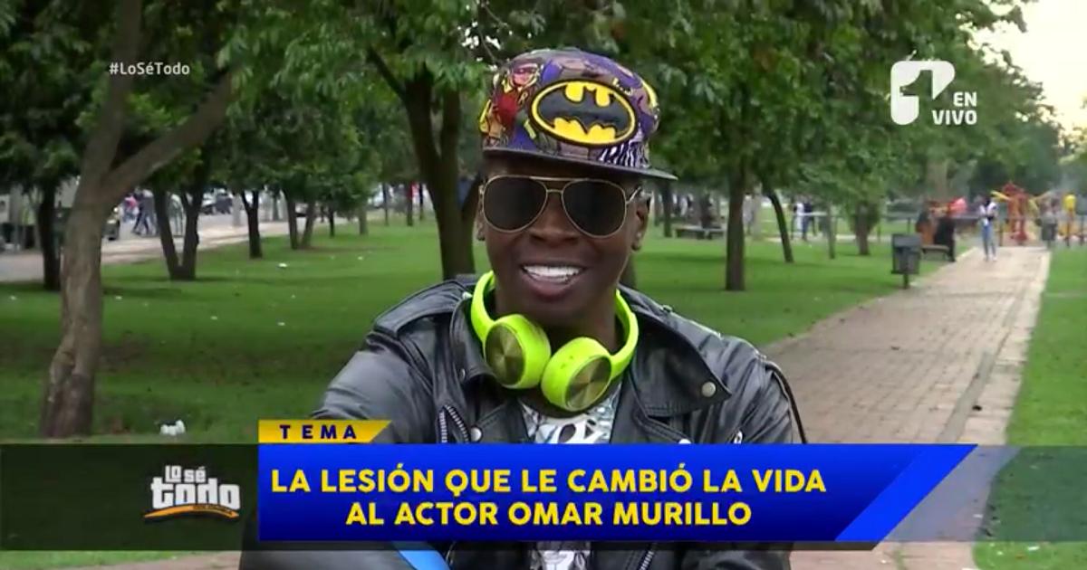 Una lesión le cambió la vida al actor Omar Murillo