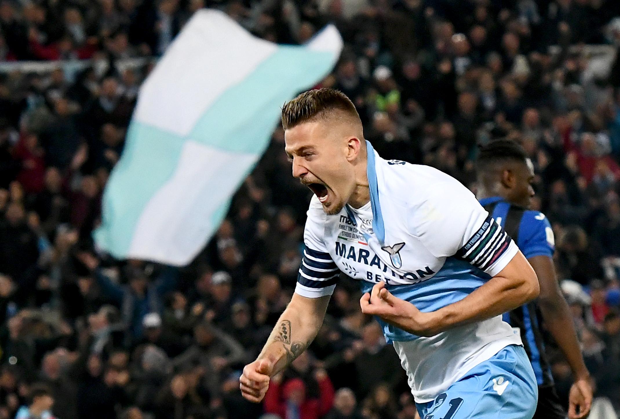 Duván Zapata se quedó sin título: Lazio venció al Atalanta en la final de Copa Italia