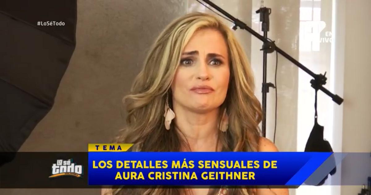 """""""Ahora voy a salir viral"""": Aura Cristina Geithner tras entrevista sexy en Lo Sé Todo"""