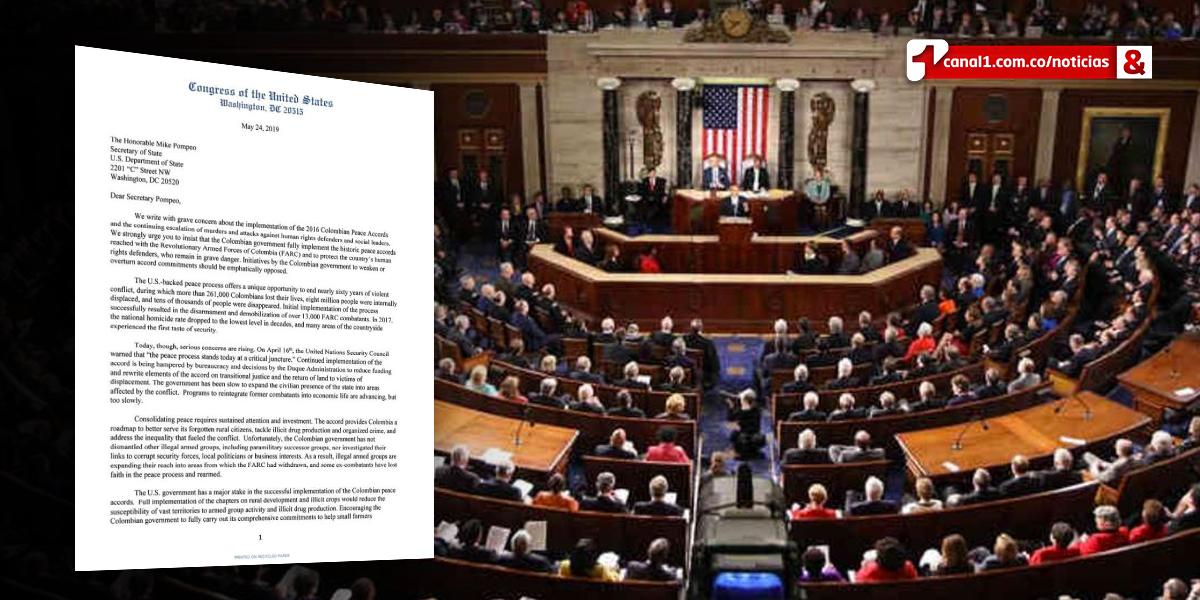 Congresistas de EE.UU. piden a Pompeo presionar a Duque para implementar acuerdo de paz