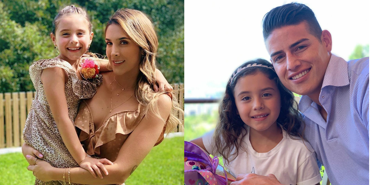El reencuentro de James Rodríguez y Daniela Ospina en el cumpleaños de su hija Salomé