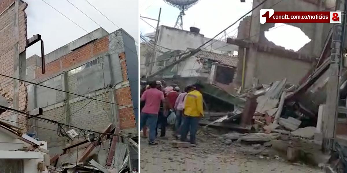 Edificio en construcción se desploma en Fundación, Magdalena: al menos 10 heridos