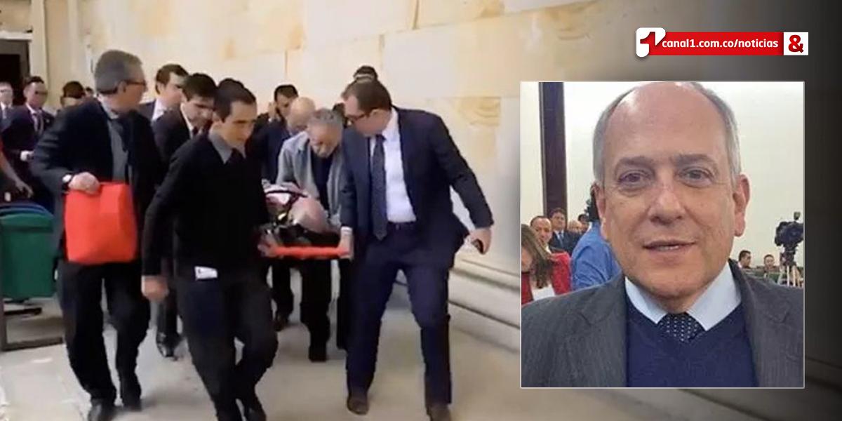 José Obdulio Gaviria agradece 'solidaridad y ánimo' ante recaída de salud en el Congreso