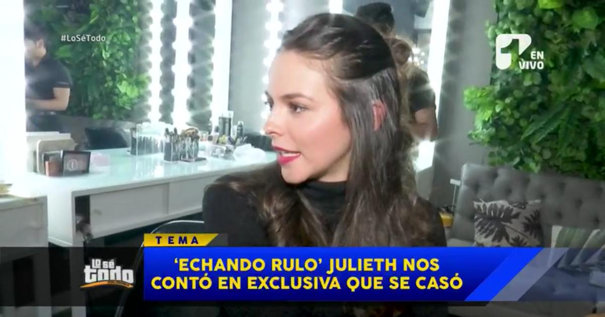 Julieth Restrepo se casó en secreto y contó los detalles en exclusiva a Lo Sé Todo