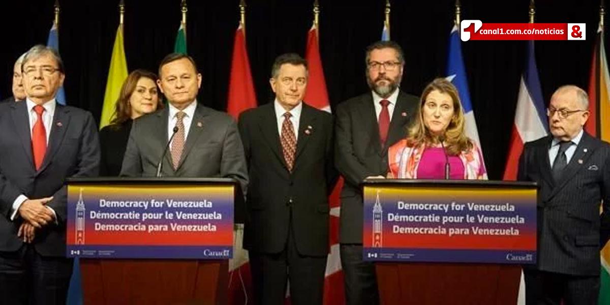 Grupo de Lima ratifica solidaridad con Venezuela y apoyo a Guaidó