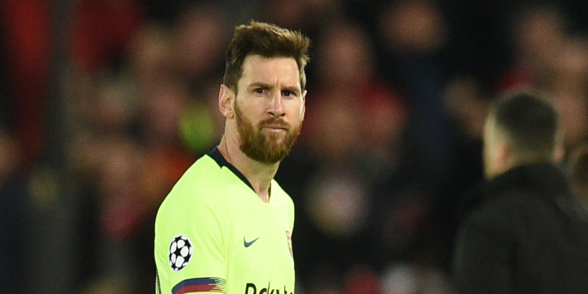 Hasta un recogepelotas se burló de Messi y le restregó su derrota contra el Liverpool