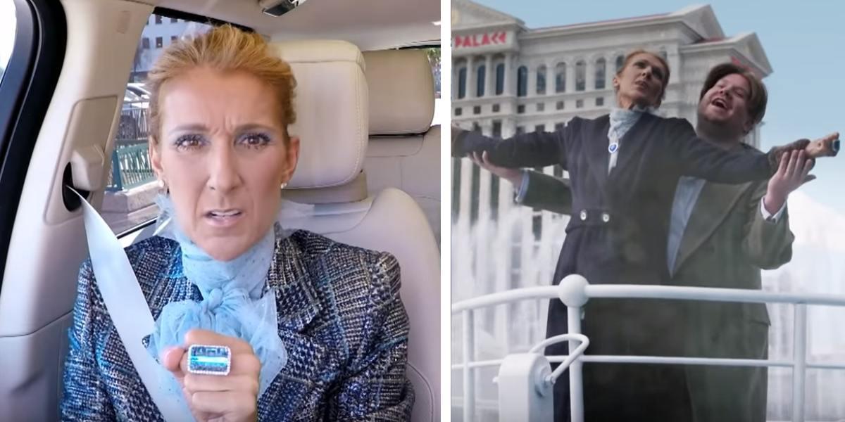 Celine Dion sorprende con canción infantil y lanza versión de 'Titanic' con James Corden