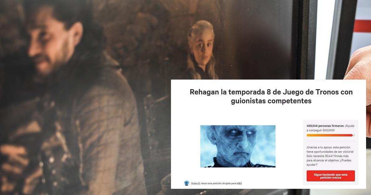 Miles de seguidores de 'Game of Thrones' exigen que reescriban la última temporada