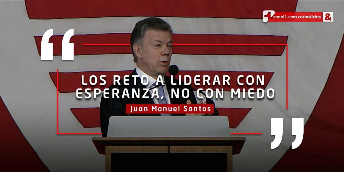 Discurso de Santos en Harvard: 'empatía es lo más valioso para un líder'