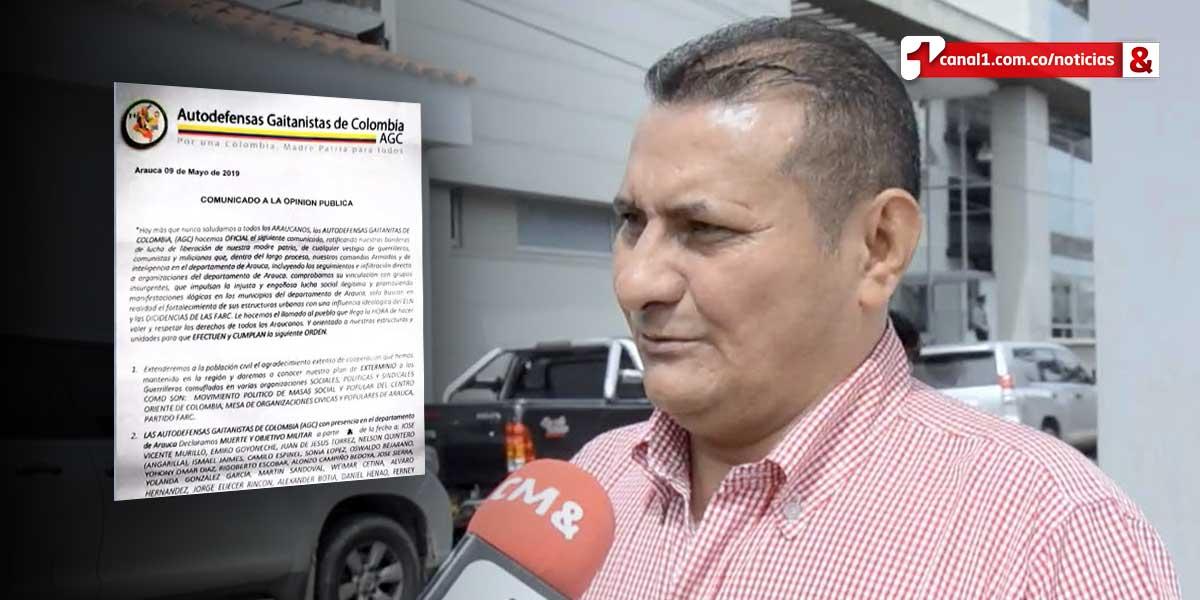 Con panfletos amenazan a grupo de líderes sociales en Arauca