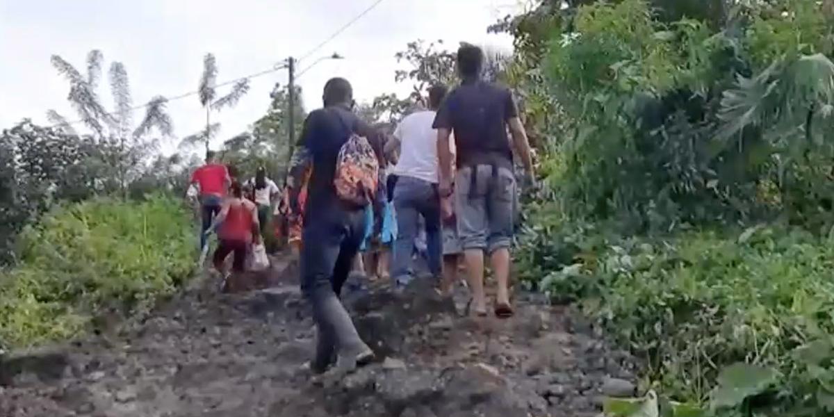 Deslizamiento de tierra afectó 10 viviendas en el municipio de Envigado, Antioquia
