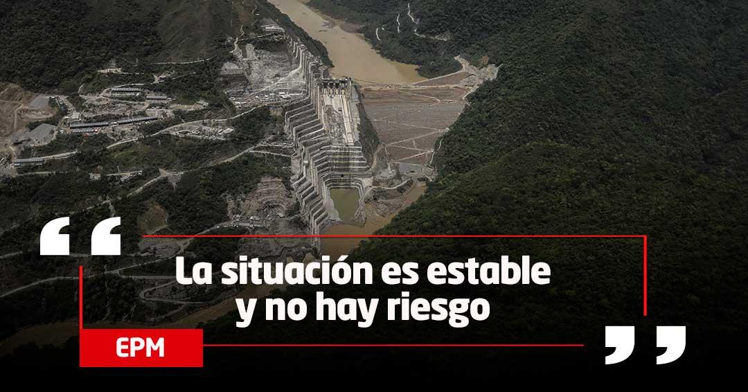 Temporada de lluvias provocan derrumbes en Hidroituango