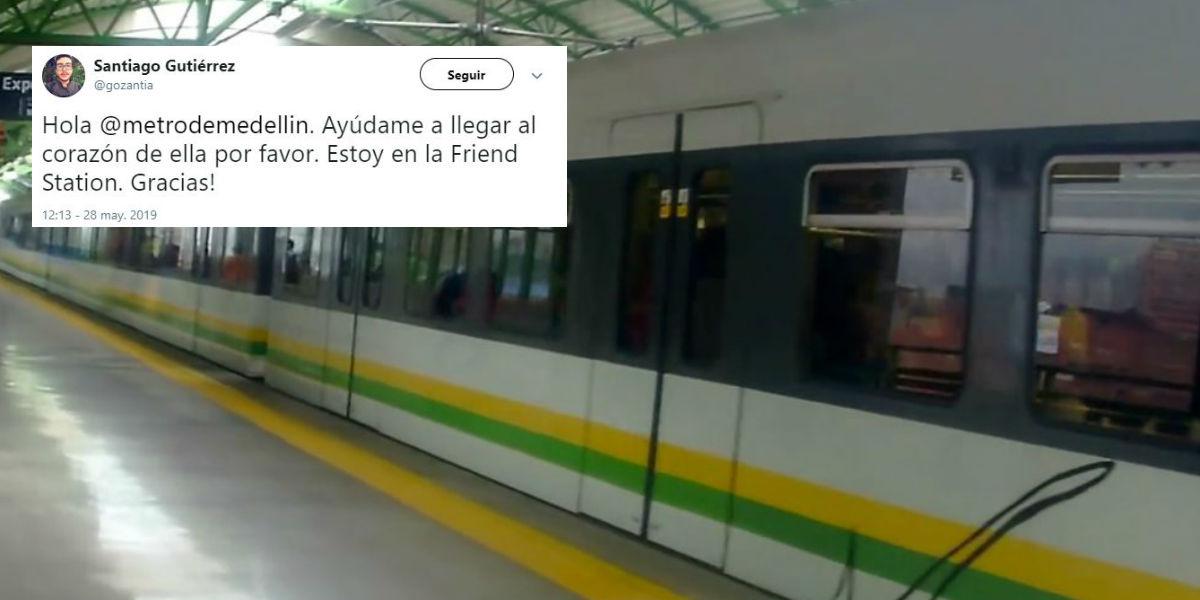 La respuesta del Metro de Medellín a un usuario despechado que la 'sacó del estadio' en Twitter