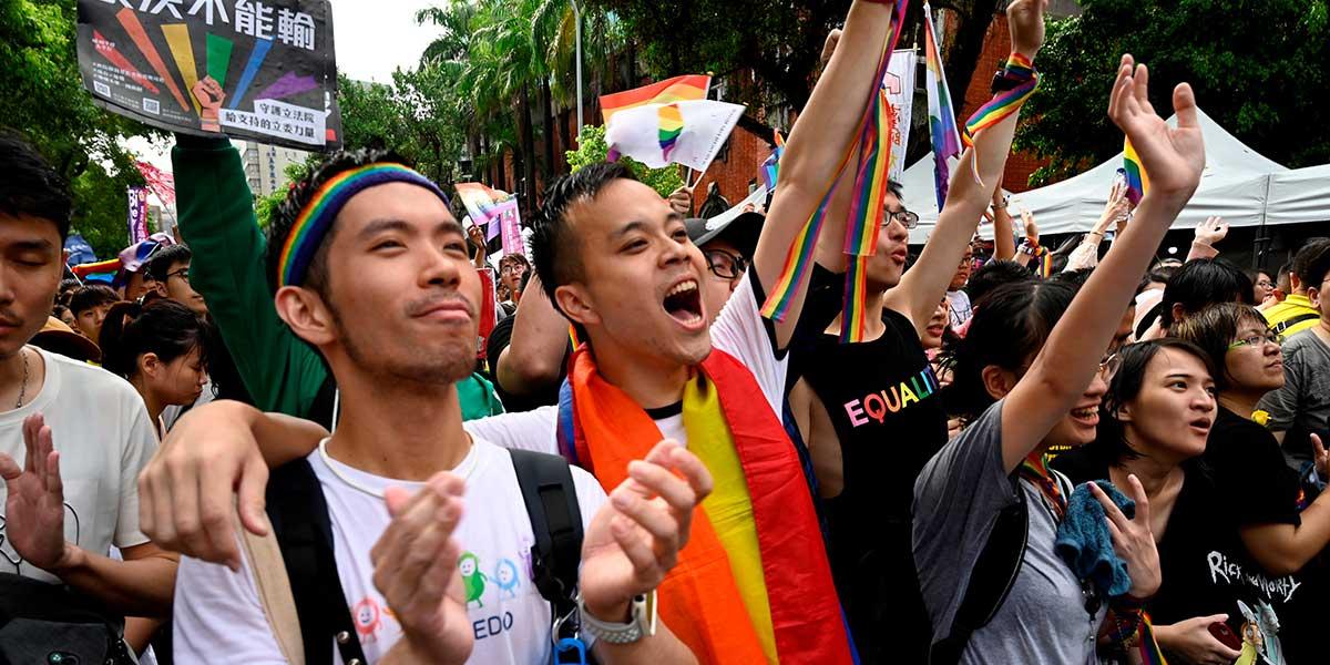 Taiwán se convierte en el primer país de Asia en legalizar el matrimonio gay