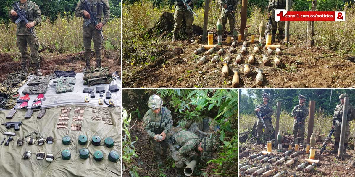 Ejército ubica y destruye dos depósitos ilegales con material de guerra en Nariño