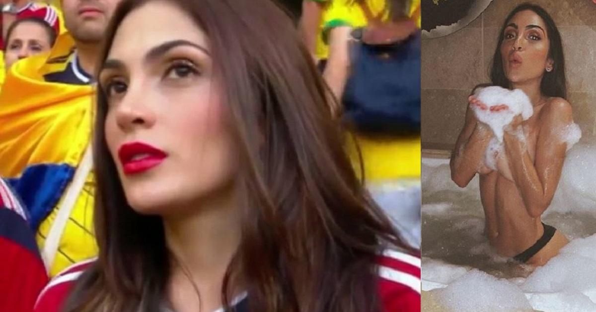 Reapareció con candentes fotos colombiana que se hizo famosa por su belleza en el Mundial