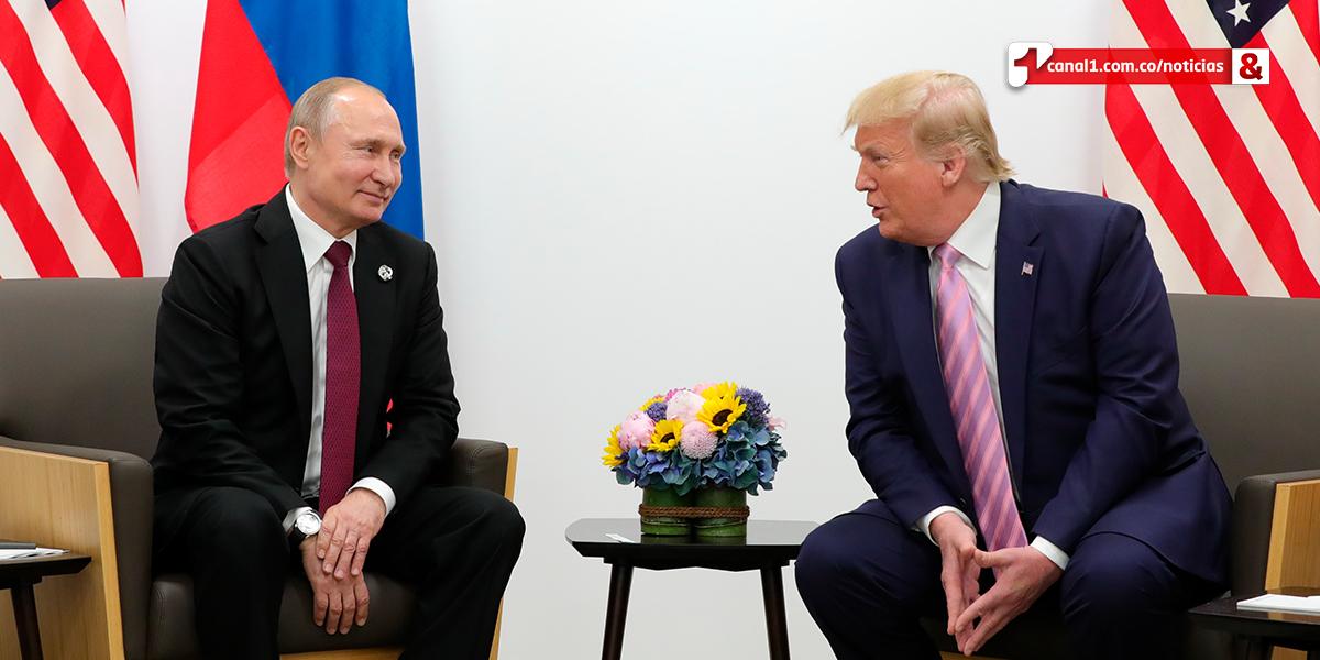 Trump se reúne con Putin y le pide sarcásticamente que no se meta en EE. UU.
